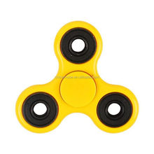 Tri Fidget Spinner Hand Toy Stress Reducer Toy High Quality ABS Metal Yellow