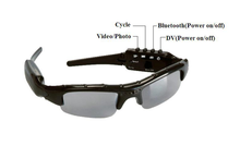HD 720p Camera Bluetooth Sunglasses 5.0MP 720*1280 Video Sunglasses Hidden Camera With Polarized Lens For Driving