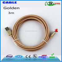 10 ft gold High quality USB data braided cable for iphone 6 cable for iphone 5 compatible with ios 9.3