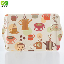 Biodegradable bamboo fiber airline food serving trays