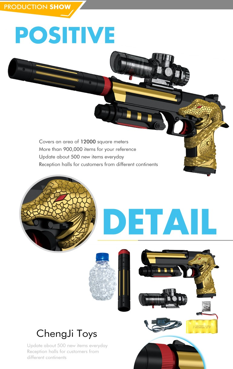 High quality wholesale plastic soft electric water bullet gun