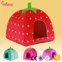 PinPai brand wholesale lovely plush pet kennel strawberry custom pet house