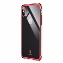 2017NEWS Baseus Ultra Thin Hard PC Case for iPhone X Luxury Plating Back Protective Cover for iPhone8 Protective Shell