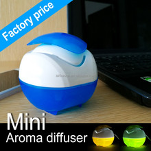For Gift USB Portable Natural Negative Ions Mini Water Humidifier Air Diffuser Aroma With Blue Led Light
