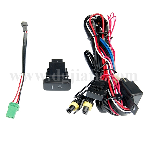 Automotive wire harness car fog light wire harness for Honda FIT
