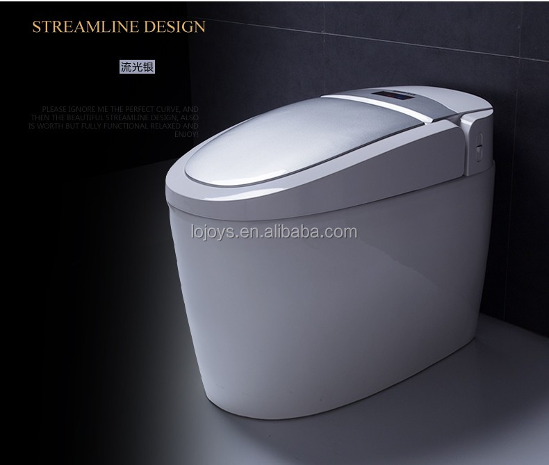 Automatic operation self-clean smart siphonic one piece intelligent toilet of China