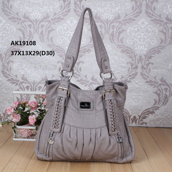 2014 latest angel kiss washed pu tote bag with plain materail AK19106