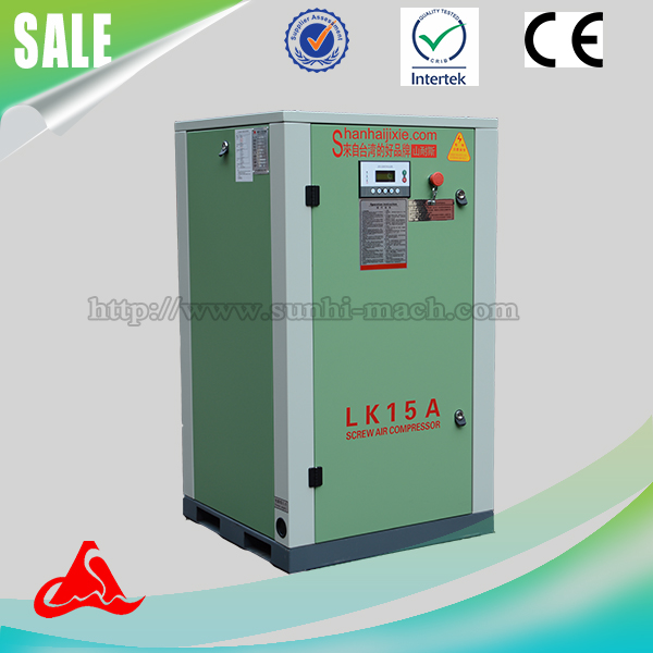 LK15A 380V 11kw/15hp 11kw rotary industrial belt driven mode screw air compressor