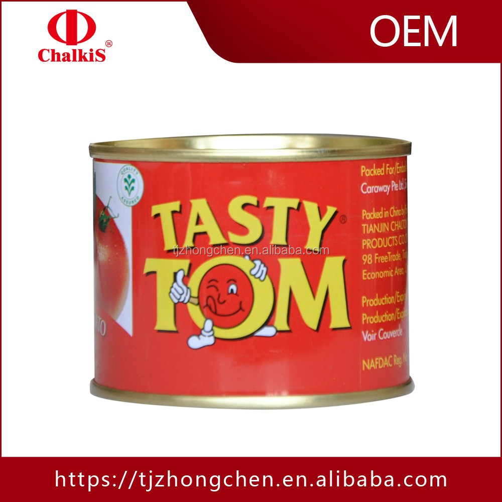 canned food 28-30%brix canned tomatoes import tomato paste