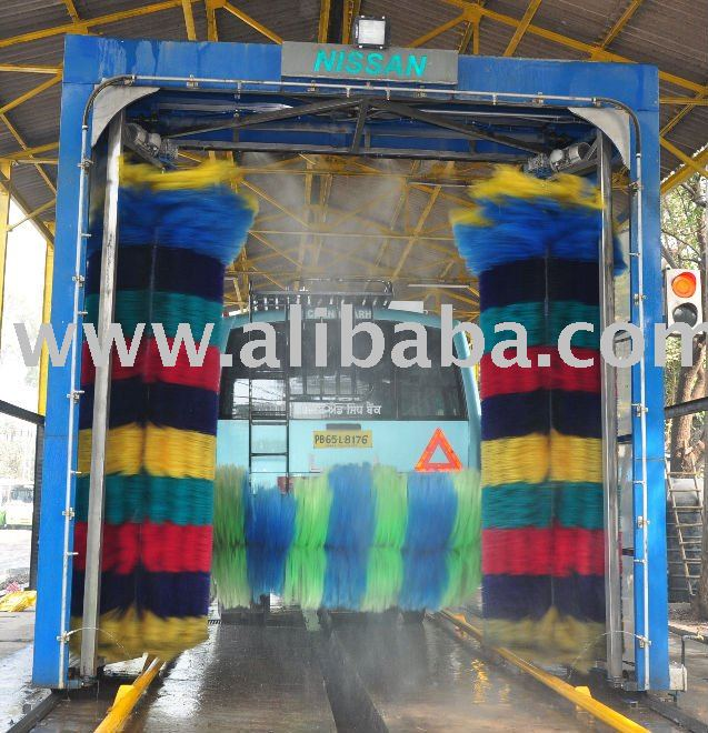 3 Brush Type Automatic Bus Wash System