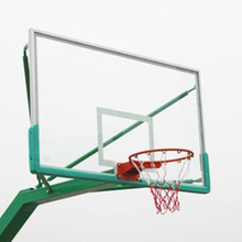 Standard size toughened glass clear basketball backboard