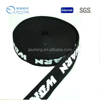 2015 new style high tenacity and good performance vinylon polyester jacquard elastic webbing