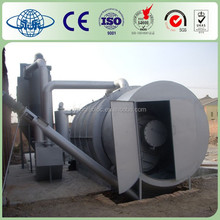 Continuous Waste tire pyrolysis to diesel plant_Tire recycling to diesel plant