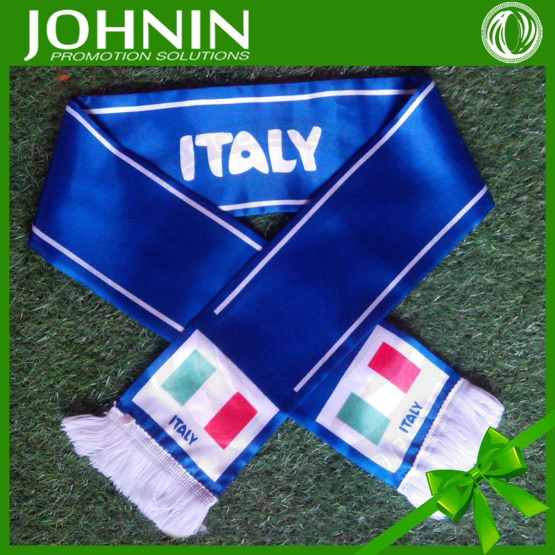 wholesale hot sale knitted cheap top quality fan flag scarves