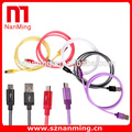 China Manufacturer Custom color usb charger data cradle charging cable