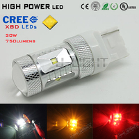 ULIGHT brand high power 30W T20 W21W 7440 7443 CREEs XBD LED 750LM car backup Rear Reverse light DC 9-24V