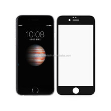 Full cover black/white frame for iphone tempered glass screen protector