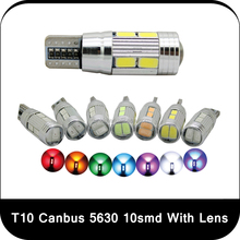 T10 Wedge 5630 10 Ultra Bright SMD LED Bulb W5W 12V DC color white ,blue, pink ,yellow ,ice blue, purple