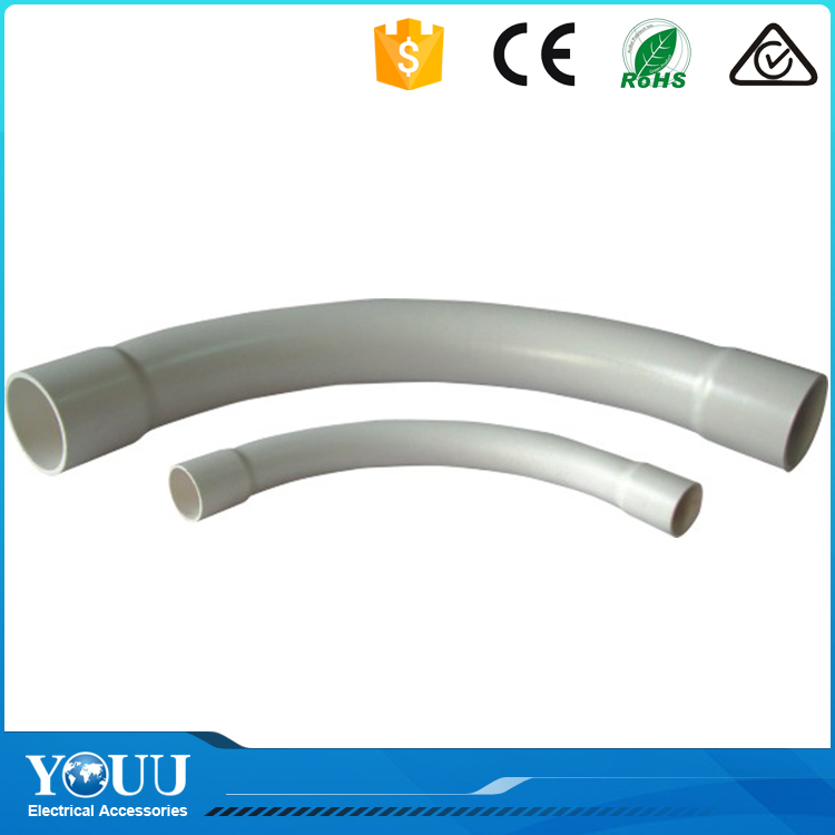 YOUU Wenzhou Factory Australia Standards Electrical PVC Plastic Bend Pipe Fitting