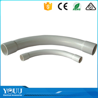 YOUU Wenzhou Factory Australia Standards Eletrical PVC Plastic Bend Pipe Fitting