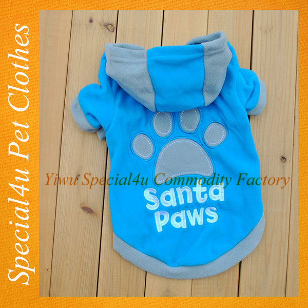 SHLY-2058 Dog plain t-shirts cotton fashion pet clothes blue color dog t-shirts
