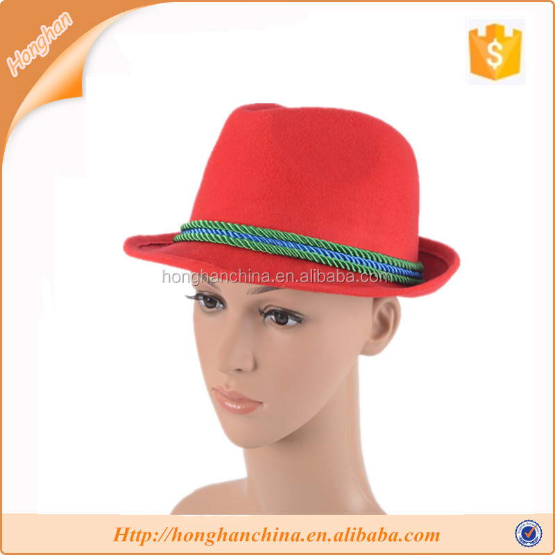 high quality red,black,beige hats fedora hat