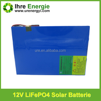 High Quality 12v lithium iron phosphate battery for solar power energy charge solar battery rechargeable auto battery