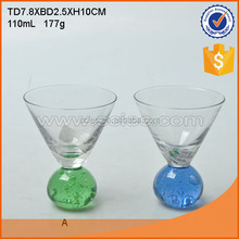 wholesale customized glass cup set for ornament