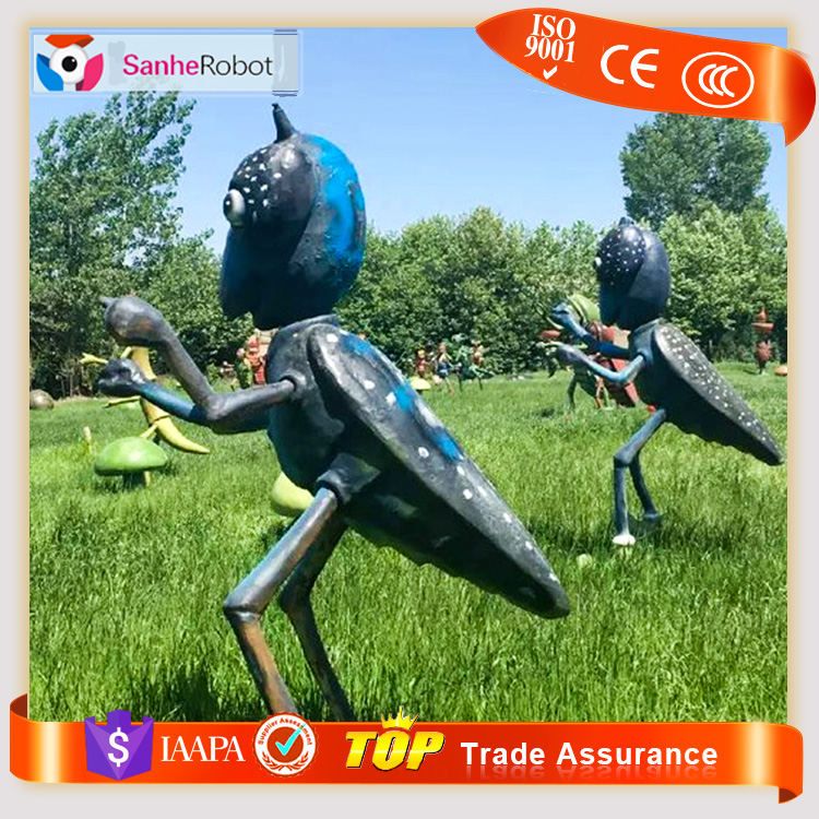 Insects fiberglass Sculpture Giant Ant Model for Decoration