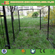 Hot sale expandable quality dog run iron fence panels dog kennel