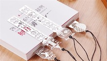 China wholesale supply customized soft enamel silver bookmark