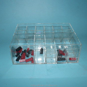 Clear Count top Acrylic Eyelash Organizer