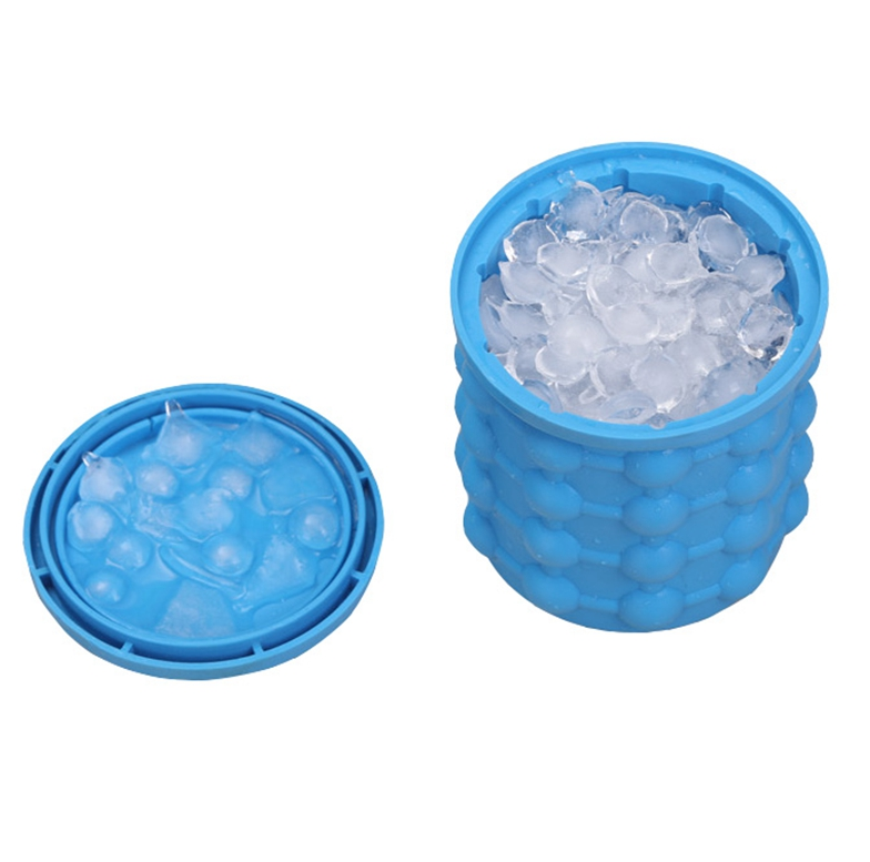 Hot selling portable bulk round cube style beer wine silicone ice bucket