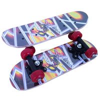 chinese maple wooden four pvc wheel kid mini graphic skateboard