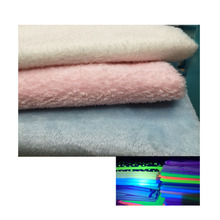 Polyester Luminous Long Pile Plush Fabric For Sofa,Home Textile,Toy