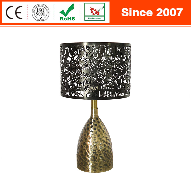 Turkish classic indoors sand nickel silver metal gourd shaped table night lamp