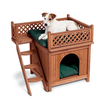 outside waterproof high quality wholesale wooden fence dog kennel