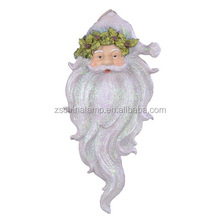 New Resin santa decoration wall With White Color wall mount bracket head For display showcase Home hotel market show decoration