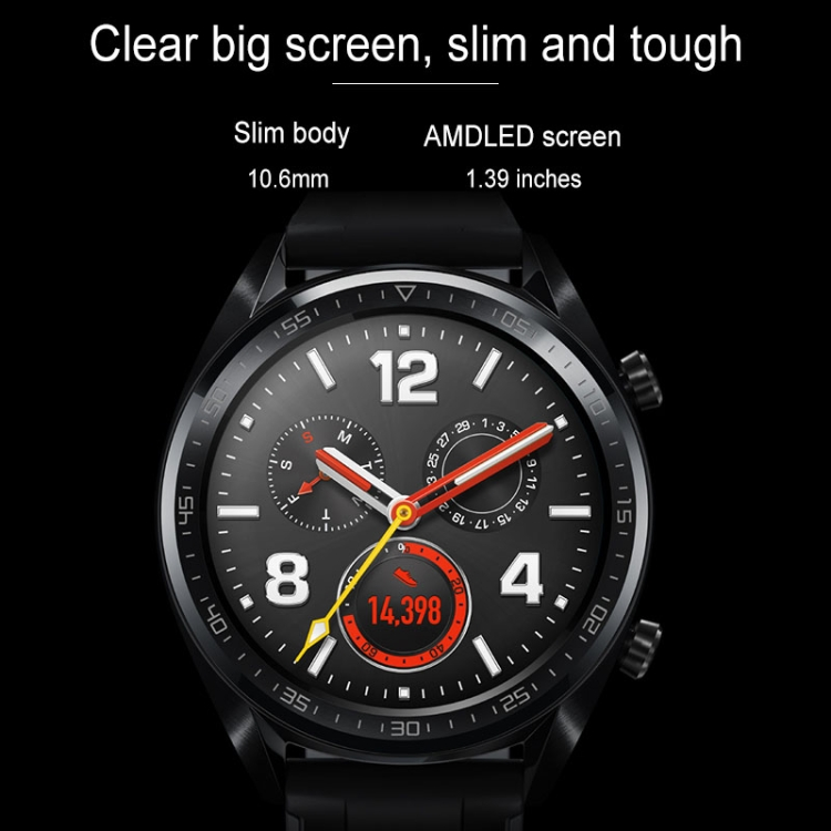 Original Steel Color HUAWEI WATCH GT Sport Watch 5ATM Waterproof Fitness Tracker Smart Watch with Heart Rate