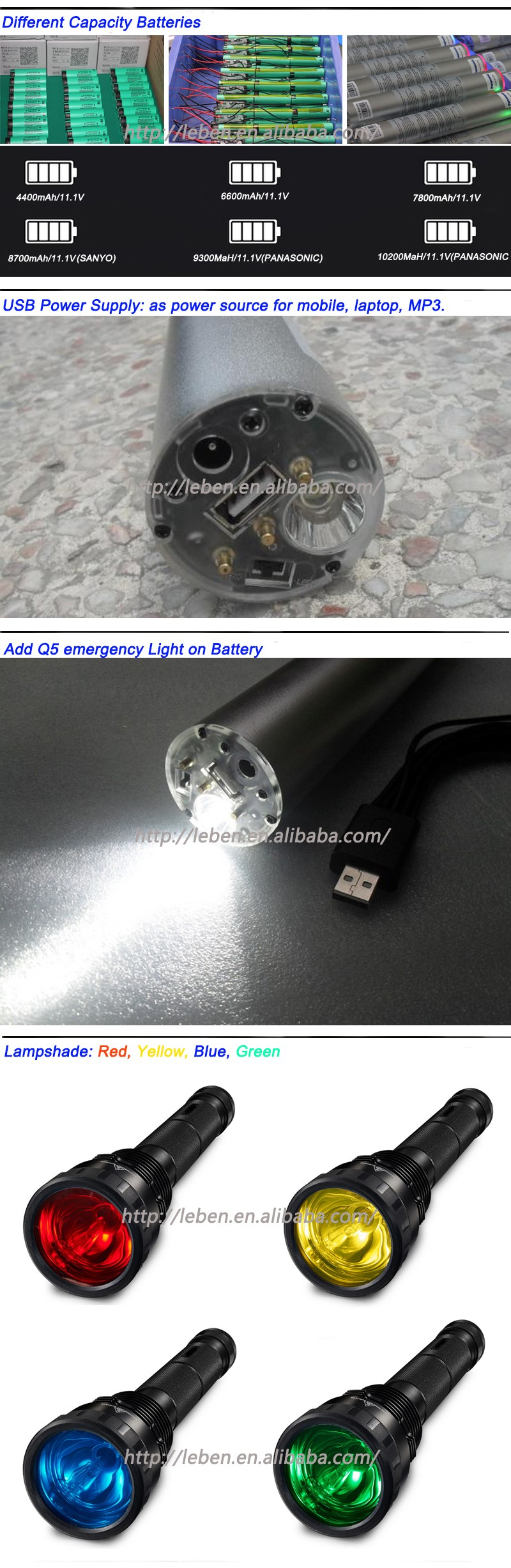 Factory Directly 85W HID xenon flashlight long-range searchlight bulb and ballast for hid flashlight