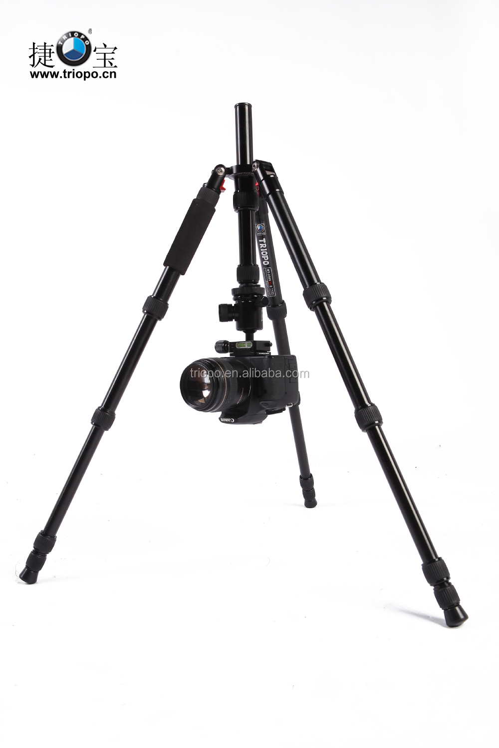 Triopo GT-2505x8.C + B-1 Adjustable Portable Alum Tripod with Ball Head for Canon Nikon DSLR Camera