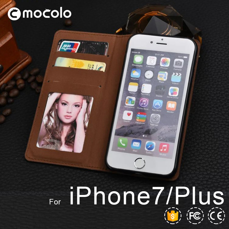 For iPhone 7 Wallet Leather Case , Wholesale Mobile Phone PU Leather Flip Cover Wallet Case for iPhone 7