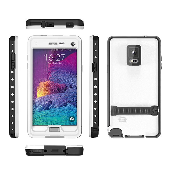 Hybrid Hard Back Cover Case For Samsung Galaxy Note 4 anti water