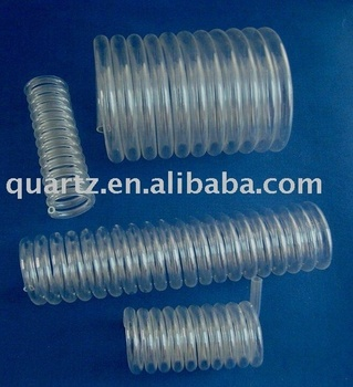 spiral milky/clear quartz glass tube for tube furnace RE418S