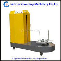 Airport bag packing machine/plastic film luggage wrapper 0086 13782855727