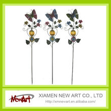 metal garden butterfly solar stake light