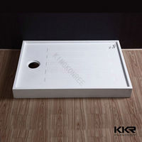 white acrylic resin stone bathroom shower trays/base/high base shower tray