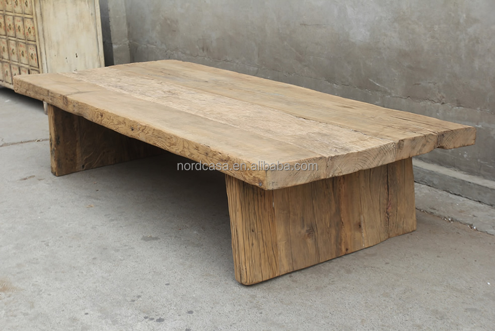 Furniture rustic Large Coffee Table With solid Wood whole reclaimed wood