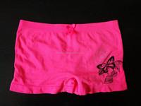 Girls one size seamless nylon boxer boyshorts panties underwear