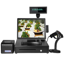 All In One Pos PC Promotion Cashier Register Electronic Point Of Sale Terminal Screen Touch Monitor Epos System